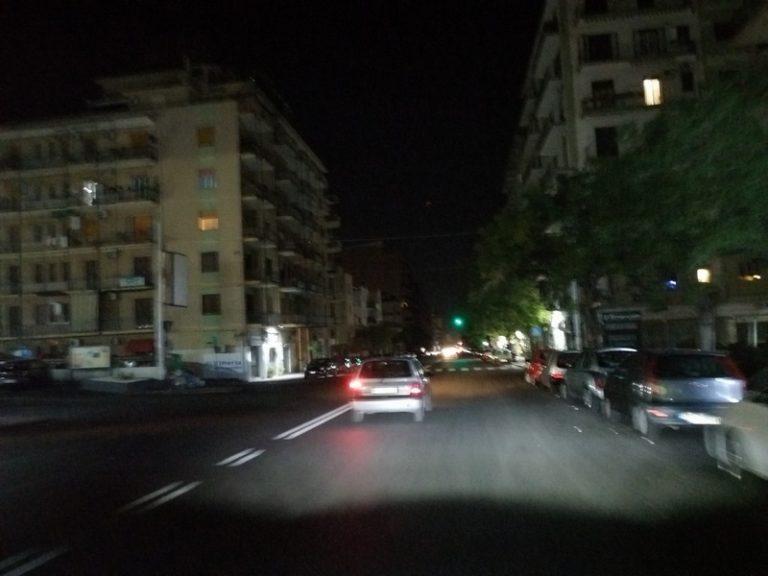 Viale Rapisardi al buio