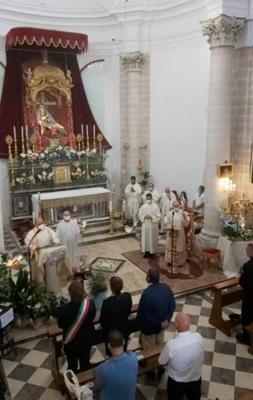 Addolorata, la chiusura della festa con la presenza del Vescovo Mons. La Placa