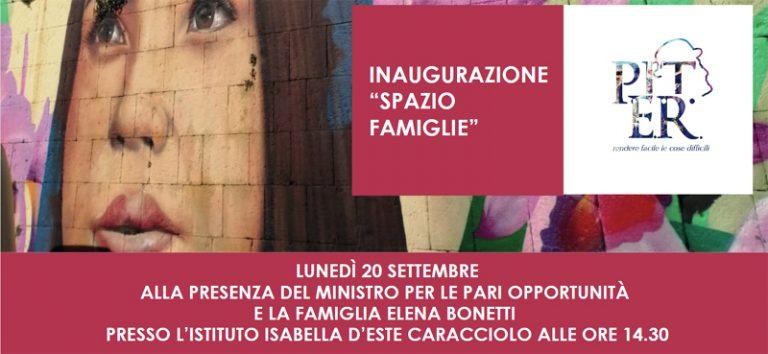 """La Ministra Elena Bonetti inaugura lo """"Spazio Famiglie"""" del Rione Sanita'"""