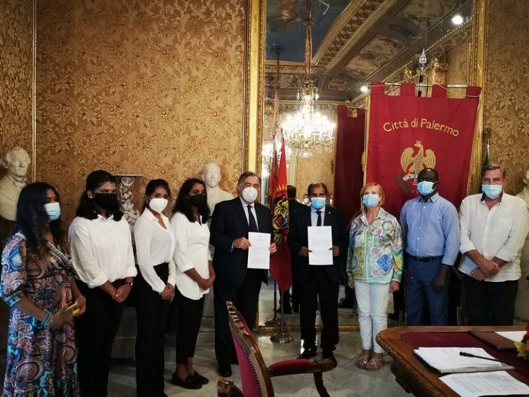 Sottoscritto protocollo d'intesa tra Comune di Palermo e Comunità Tamil d'Italia