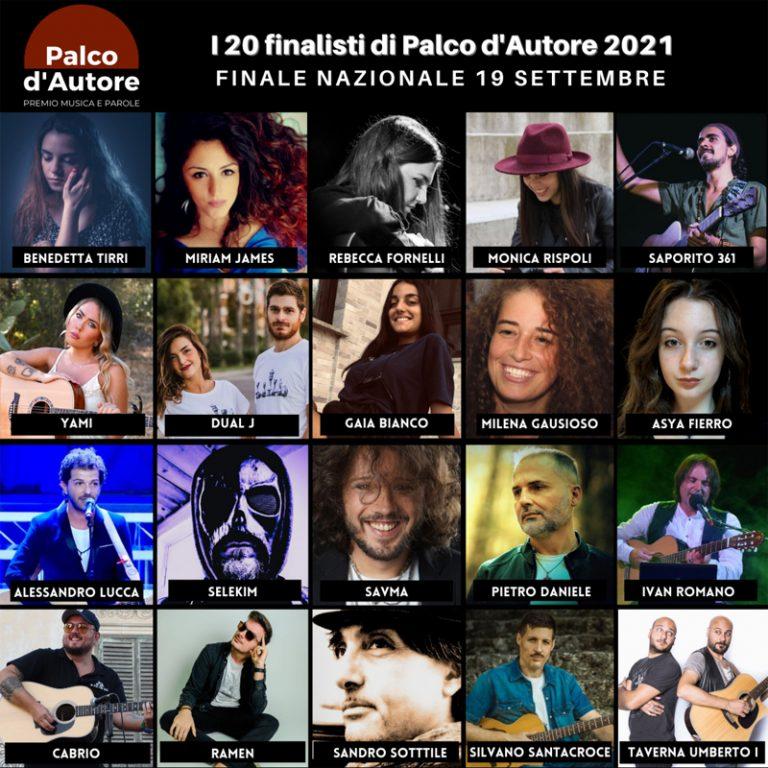 Palco d'Autore 2021, i 20 artisti per la finale nazionale a Salerno