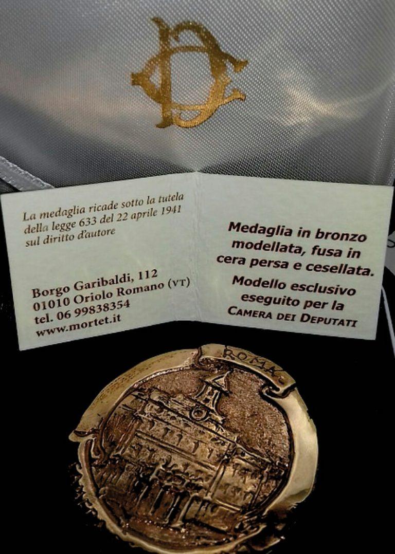 Il presidente della Camera invia una medaglia di rappresentanza all'associazione Sinergitaly
