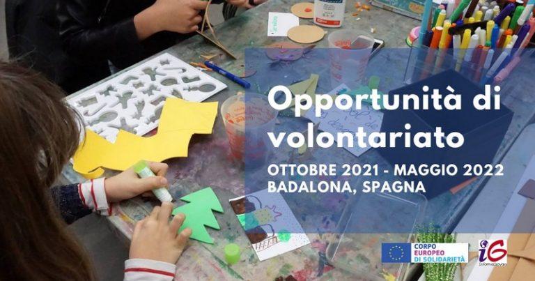 Progetto di volontariato Corpo Europeo di Solidarietà