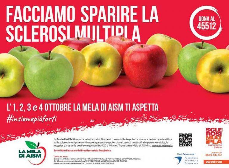 """""""La Mela di AISM"""":oltre 15 mila sacchetti di mele per sostenere la lotta alla sclerosi multipla"""