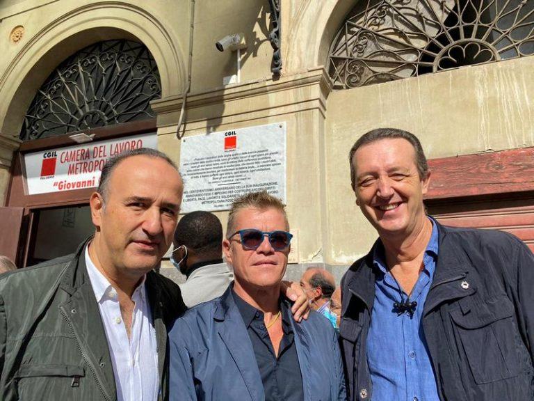 """Solidarietà a Cgil, Cisal al sit-in di Palermo.""""Attacco al mondo sindacale, no alla violenza"""""""